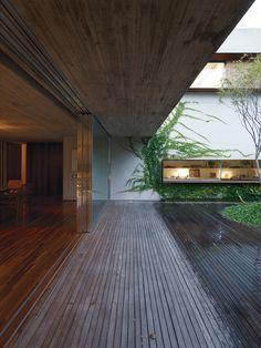 Love the way the indoor floor boards follow onto the outdoor deck.