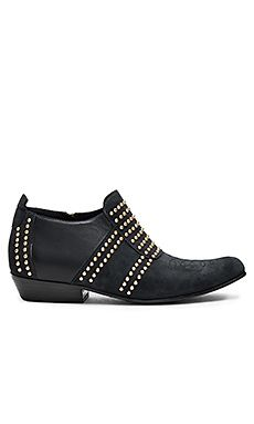 ANINE BING Low Charlie Boot in Navy