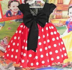 Disfraz Minnie Mouse, Minnie Mouse Costume, Minnie Mouse Party, Tutu Frocks, Little Dresses, Girls Dresses, Funny Dresses, Kids Dress Patterns, Mickey Mouse Clubhouse Birthday