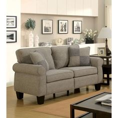 Shop for Furniture of America Herena Transitional Linen-like Loveseat. Get free shipping at Overstock.com - Your Online Furniture Outlet Store! Get 5% in rewards with Club O! - 23747804