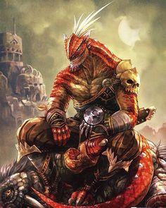 Master of dragons and berserkers Fantasy Races, Fantasy Warrior, Fantasy Rpg, Fantasy Artwork, Dark Fantasy, Dungeons And Dragons Characters, Fantasy Characters, Fantasy Character Design, Character Art