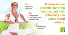 B-vitamins are essential for brain function, and their deficiency can cause mood swings.
