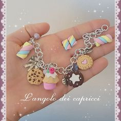 #delicious #polimer #handmade #polimerclay #clay #fimo #dolci #dolcezze #sugar #nice #pink #cupcake #mashmellow #cookies #pandistelle