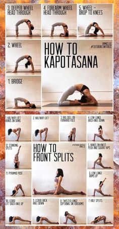 Yoga: Kapotasana et parties avant Gym Workout For Beginners, Gym Workout Tips, Fitness Workout For Women, Fitness Workouts, Workout Challenge, Workout Videos, Gymnastics For Beginners, Splits Challenge, Gymnastics Videos