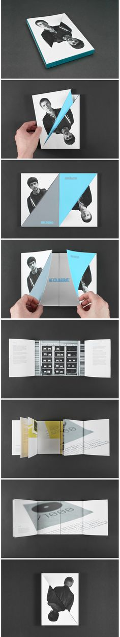 I really love the way this book folds out, and the way that there is 2 books in 1, which between them can create bigger pictures as well as separate information. Great for a final piece