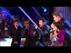"""Nick Lachey with Pentatonix on The Sing-off Performing """"Give Me Just One Night"""" (Una Noche) by 98 Degree. November 28 2011"""