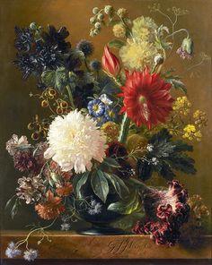 СтаринноЦветочное...Georgius Jacobus Johannes van Os (1782-1861). Обсуждение на LiveInternet - Российский Сервис Онлайн-Дневников