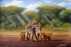 There are original African artists - and there is Geoffre Mugwe. In a class by himself, Mugwe has aligned himself with one particular gallery in Nairobi and Kenyan Artists, African Artists, Lion Family, Wildlife Art, Horses, Gallery, Fun, Animals, Nairobi