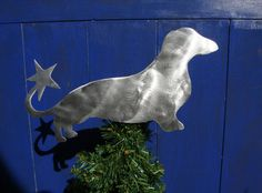 Dachshund Weiner Dog Dog Christmas Tree by ScreenDoorGrilles, $24.00--I finally found a tree topper Kevin and I can agree on!!!