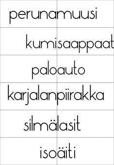 Learn Finnish, Finnish Language, Teaching Aids, Early Literacy, Happy People, Speech Therapy, Kids Learning, Teacher, Math Equations