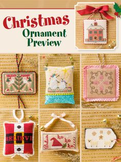 Christmas Ornament Preview from the Jul/Aug 2015 issue of Just CrossStitch Magazine. Order a digital copy here: https://www.anniescatalog.com/detail.html?prod_id=125655