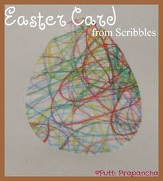 Easter pics from kids' pics! Simply trace the desired outline onto the back of the artwork, and then cut out!