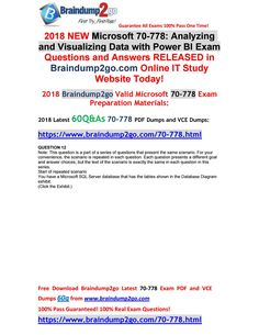 [2018-6-New]Braindump2go 70-778 VCE and PDF Dumps 60Q Free Share(12-17) Question And Answer, This Or That Questions, Pdf, News, Jan 2018, Free, Microsoft, February