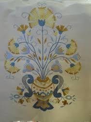 Resultado de imagem para bordado de castelo branco azul