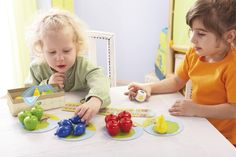 """Meine ersten Spiele - Erster Obstgarten - Unser Spieleklassiker """"Obstgarten"""" für die Kleinsten: Die Regeln sind an das Alter angepasst und das Spielmaterial ist speziell für kleine Kinderhände gemacht. Die schönen, griffigen Holzteile laden auch zum freien Spielen ein und fördern dabei die Feinmotorik. Ein kooperatives Farbspiel für 1 - 4 Kinder ab 2 Jahren. (Artikelnummer 4655)"""
