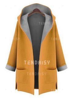 31a94397b83e94 Coats -  45.99 - Long Sleeve Hooded Pockets Trench Coats (1715365066)  Fashion Fall