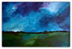 "ARTFINDER: Beneath the Starry Sky by Jessica Sanders - I have always loved the night sky.  I spend countless hours looking at the stars, amazed at the vastness and beauty of  the universe.  ""Beneath the Starry Sk..."