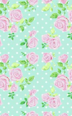 Flowers green pink