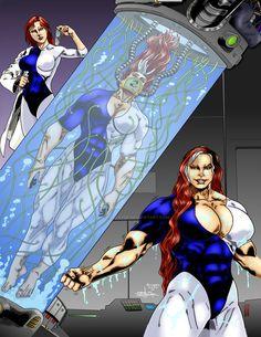 Powera Begins by Jean Sinclair by THE-Darcsyde on DeviantArt Female Muscle Growth, Best Hero, Superhero Design, Muscle Girls, Detailed Image, Rogues, Art Girl, Comic Art, Design Art