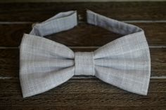 White and Gray Bow Tie Boys Bow Tie Baby and Youth by BrileyBean, $10.00