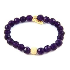 Amethyst Stone Elastic Bracelet