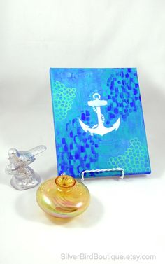 Nautical Anchor Canvas Painting Art Wall by SilverBirdBoutique, $35.00
