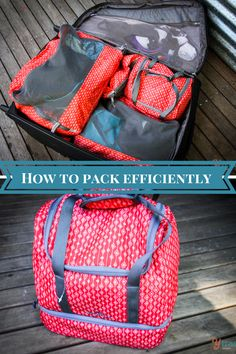 How To Pack a Suitcase Efficiently - before I found this method I was a mess!