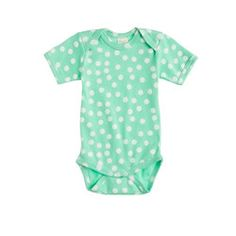 Nature Baby® for J.Crew short-sleeve one-piece in dot