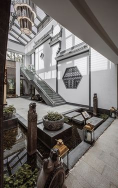 35 Luxury and Well-designed New Chinese Interior Decor Will … – Architecture Ideas Architecture Mode, Architecture Wallpaper, Classical Architecture, Landscape Architecture, Ancient Chinese Architecture, Chinese Buildings, Chinese Garden, New Chinese, Chinese Style