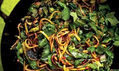 Spring greens and fresh egg noodles with cilantro and chili sauce from Nigel Slater Veggie Recipes, Vegetarian Recipes, Cooking Recipes, Healthy Recipes, Savoury Recipes, Nutritious Meals, Healthy Snacks, Sauce Chili, Cilantro