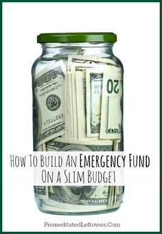 How to Build an Emergency Fund on a Slim Budget - Tips and tricks to help you set aside money for an emergency fund.