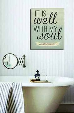 It Is Well With My Soul art print: on canvas or wood, via Anchor and Vine on Etsy.  @Dottie Nelson