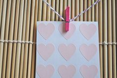 108 Mini Heart Seals - Stickers PASTEL PINK. $4,50, via Etsy.