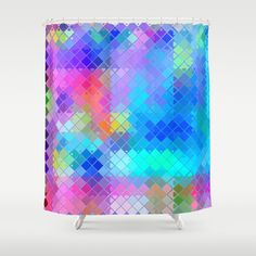 Re-Created  Flying Carpet XVI Shower Curtain by Robert S. Lee - $68.00