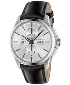 b0bbdc3552c Gucci Men s Swiss Automatic Chronograph G-Timeless Black Leather Strap  Watch 44mm YA126265   Reviews - Watches - Jewelry   Watches - Macy s