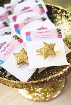 Glittery party favors
