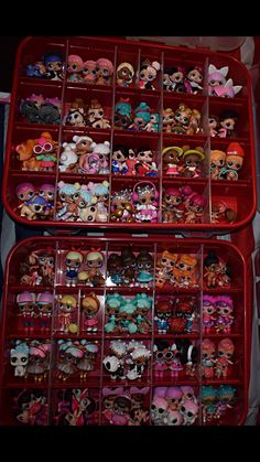 Red Storage Bin! Great Way To Store And Organize All Your LOL SURPRISE DOLLS !