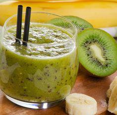 Smoothie mit Banane, Kiwi und Dattel Tags:
