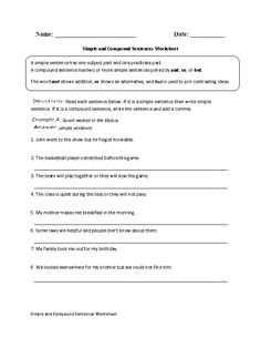 Grade 2 Worksheet Combining Compound Sentences Worksheet Part   Worksheets  Double Negative Worksheets Word with Printable Letter Tracing Worksheet Pdf A Compound Sentence Is Composed Of At Least Two Independent Clauses These  Compound Sentences Worksheets Are For Students At The Beginner And  Intermediate  Super Teacher Math Worksheet Word