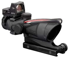 Trijicon ACOG Scope, Dual Illuminated Red Chevron Ballistic Reticle, MOA RMR Sight >>> Details can be found by clicking on the image. Rifles, Camouflage, Red Chevron, Rifle Scope, Ar Rifle, Guns And Ammo, Red Dots, Tactical Gear, Firearms