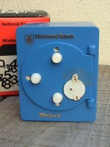 Vintage National Savings Bank Australasia Australia Combination Minibank Money Safe Box Circa 1975 £16 #FollowVintage