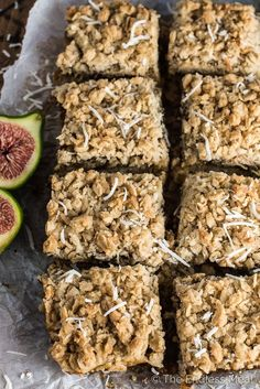 These delicious Coconut Fig Squares are like dates squares, only made with fresh green figs. Add them to your list of must-make desserts during fig season!