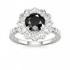 Black Diamond #engagement #ring