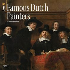famous dutch painters 2018 12 x 12 inch monthly square wall calendar isbn 978 - Ausatmen Fans Ef34