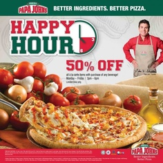 Papa John's Happy Hour Promotion