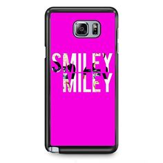 Smiley Miley TATUM-9718 Samsung Phonecase Cover Samsung Galaxy Note 2 Note 3 Note 4 Note 5 Note Edge