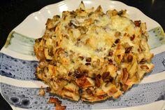 Bacon Mushroom Onion Cheese Bread