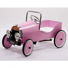 BAGHERA PINK CLASSIC RIDE IN CAR PEDAL CAR