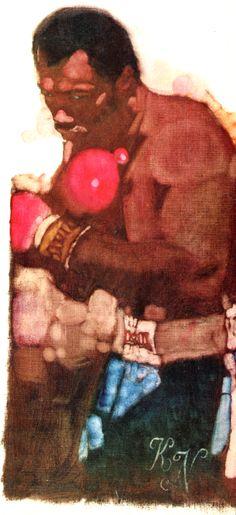 Heavyweight Ken Norton. Oil painting by Bernie Fuchs.