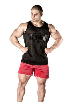 fed3f28bfabc0f Just in - Our black on black Stealth Mesh Tank There s nothing stealth  about Jacob Spiteri -Jake s physique. Only at irontanksgymgear.com Built  Iron Tough.